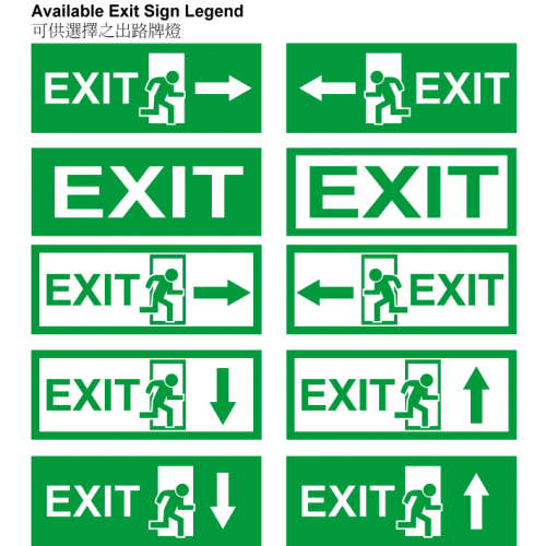 Led Emergency Exit Sign Box Light Omni Electrical